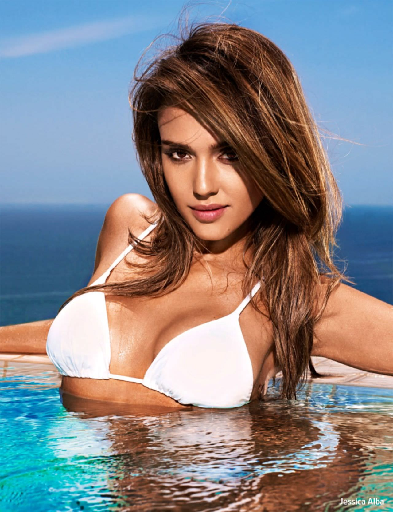Jessica Alba turns 34 on Tuesday, and we're celebrating with a look back at her best bikini pictures.