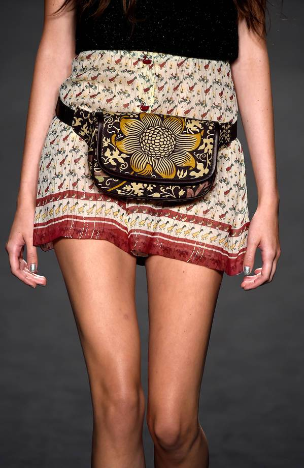 NEW YORK, NY - SEPTEMBER 10:  A model (bag detail) walks the runway at the Anna Sui fashion show during Mercedes-Benz Fashion Week Spring 2015 at The Theatre at Lincoln Center on September 10, 2014 in New York City.  (Photo by Frazer Harrison/Getty Images for Mercedes-Benz Fashion Week)